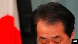 원자력 발전소 상황을 발표하는 간 나오토 일본 총리