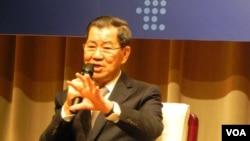 台灣前副總統蕭萬長將帶領台灣代表團出席APEC峰會 (美國之音許波 拍攝)