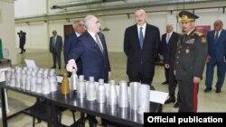 İlham Əliyev silah zavodunu açır