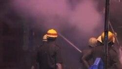 印度城市加尔各答火灾18人丧生