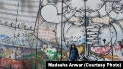 بیت اللحم (فلسطین) میں اسرائیل فلسطین مغربی کنارے کی دیوار پر