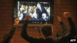 Dân Nga vui mừng khi FIFA loan báo Nga được chọn tổ chức World Cup 2018