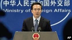 중국 외교부 홍레이 대변인 (자료사진)
