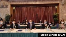 Çavuşoğlu, TBMM Plan ve Bütçe Komisyonu'nda, Dışişleri Bakanlığı'nın 2021 yılı bütçe sunuş konuşmasında, Türk dış politikasına ana hatlarıyla değindi.