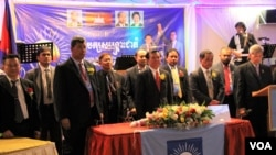 File Photo--CNRP Leaders during CNRP Gathering Party at Hai Tien Restaurant, Philadelphia, Pennsylvania, USA on April 28, 2017. (Seourn Vathana/VOA Khmer)