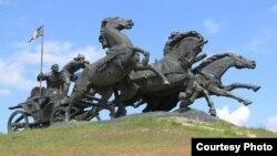Памятник Тачанке в Каховке. Courtesy photo