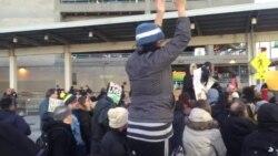Protestas en el aeropuerto JFK de Nueva York
