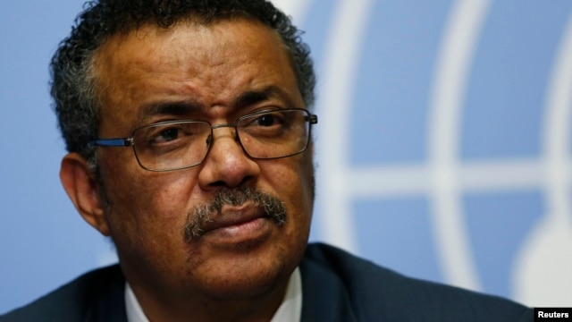 Tedros Adhanom, Ethiopia's minister of foreign affairs and former minister of health, is seen at a news conference at the European headquarters of the United Nations in Geneva, Switzerland, May 24, 2016.