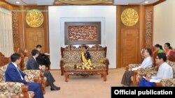 ေဒၚေအာင္ဆန္းစုၾကည္ႏွင့္ တ႐ုတ္ အာရွေရးရာ အထူးကိုယ္စားလွယ္ H.E. Mr. Sun Guoxiang (Ministry of Foreign Affairs Myanmar)