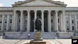 Здание Министерства финансов США в Вашингтоне (архивное фото)