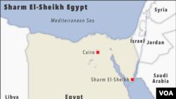 ရဟတ္ယာဥ္ပ်က္က်ရာ အီဂ်စ္ႏုိင္ငံ Sharm El-Sheikh Egypt ေဒသျပ ေျမပုံ။