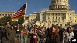 워싱턴 DC 의사당 점령 시위대 모습