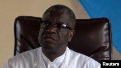 Dr. Denis Mukwege Prix Nobel ya Kimaya na l'hïpital Panzi na Bukavu, 5octobre 2018.