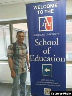 Paskalis Kaipman, mahasiswa S2 di American University di Washington, D.C. asal Boven Diegol, Papua (dok: Pribadi)