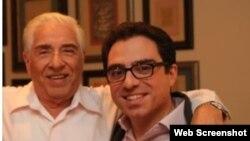 سیامک و پدر او باقر نمازی که هر دو در ایران بازداشت هستند.