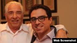 از راست سیامک و باقر نمازی، زندانیان آمریکایی در ایران