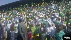Part of the crowd which attended President Robert Mugabe's election rally in Chitungwiza