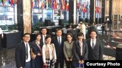 台灣立委訪問團在美國國務院杜魯門大樓內 (民進黨立委王定宇臉書)