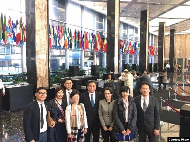 台湾立委访问团在美国国务院杜鲁门大楼内 (民进党立委王定宇脸书)