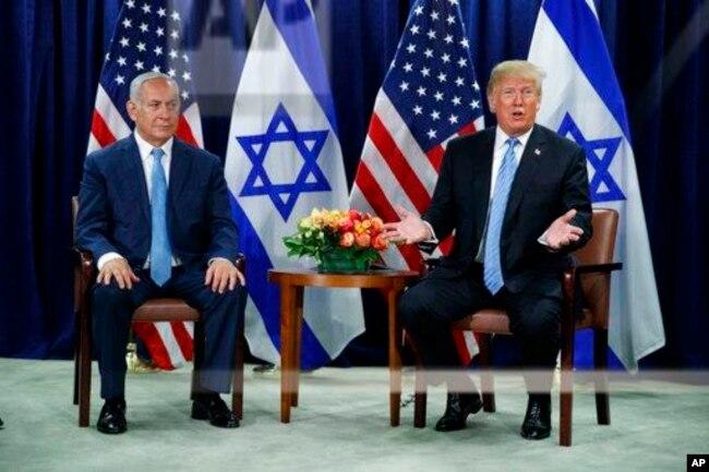 El president Donald Trump se reunió el miércoles 26 de septiembre de 2018 con el primer ministro de Israel Benjamin Netanyahu.
