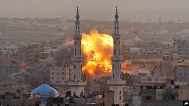 Ikibombe kirashwe n'indege z'igihugu ca israeli muri Gaza