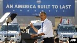Predsednik Obama govorio je o svojoj energetskoj politici u jednom postrojenju UPS-a, u Nevadi