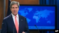 Ngoại trưởng John Kerry phát biểu tại Bộ Ngoại giao ở Washington, 26 tháng 8, 2013.
