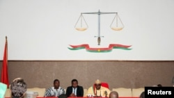 La Cour de justice burkinabè, à Ouagadougou, Burkina Faso, le 17 avril 2015.