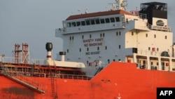 지난 2017년 12월 한국 정부가 억류한 홍콩 선적 선박 '라이트하우스 윈모어'호. 북한 선박에 불법적으로 정유제품을 이전한 것으로 파악됐다.