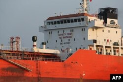 한국 정부가 억류한 홍콩 선적 선박 '라이트하우스 윈모어'호. 북한 선박에 불법적으로 정유제품을 이전한 것으로 파악됐다.