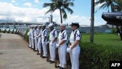 Традиционная памятная церемония в Перл-Харборе на Гавайях.