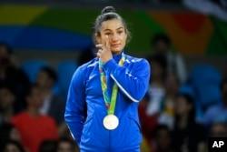 Majilinda Kelmendi won the first-ever medal for Kosovo.