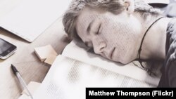 Sleeping Student Art