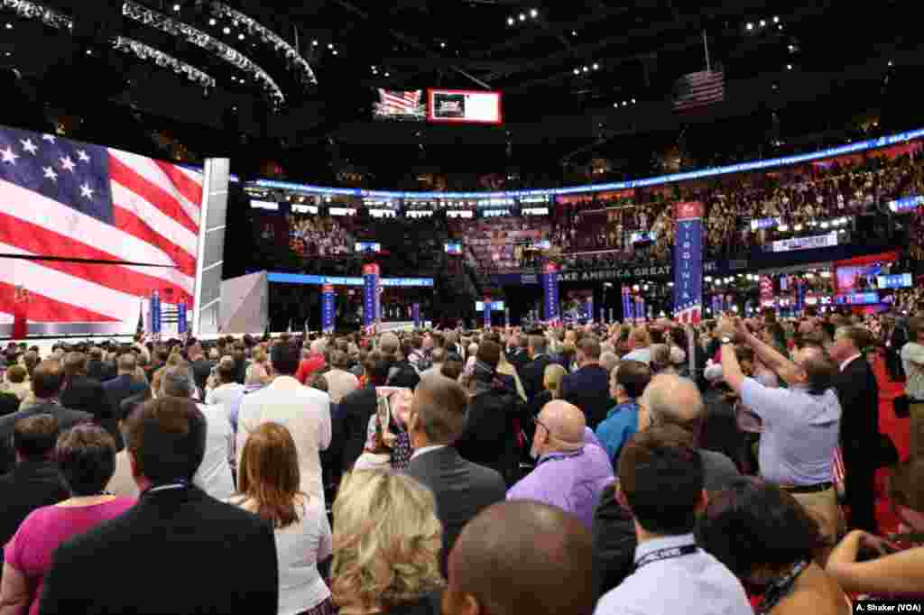Delegates at the Republican National Convention, in Cleveland, July 21, 2016.