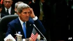 Menlu AS John Kerry menghadiri pertemuan pertama AS-ASEAN di Bandar Seri Begawan, Brunei Darussalam (9/10).