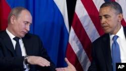 Владимир Путин и Барак Обама. 18 июня 2012г.