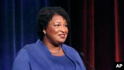 Democratic gubernatorial candidate for Georgia Stacey Abrams, in Atlanta, Oct. 23, 2018.
