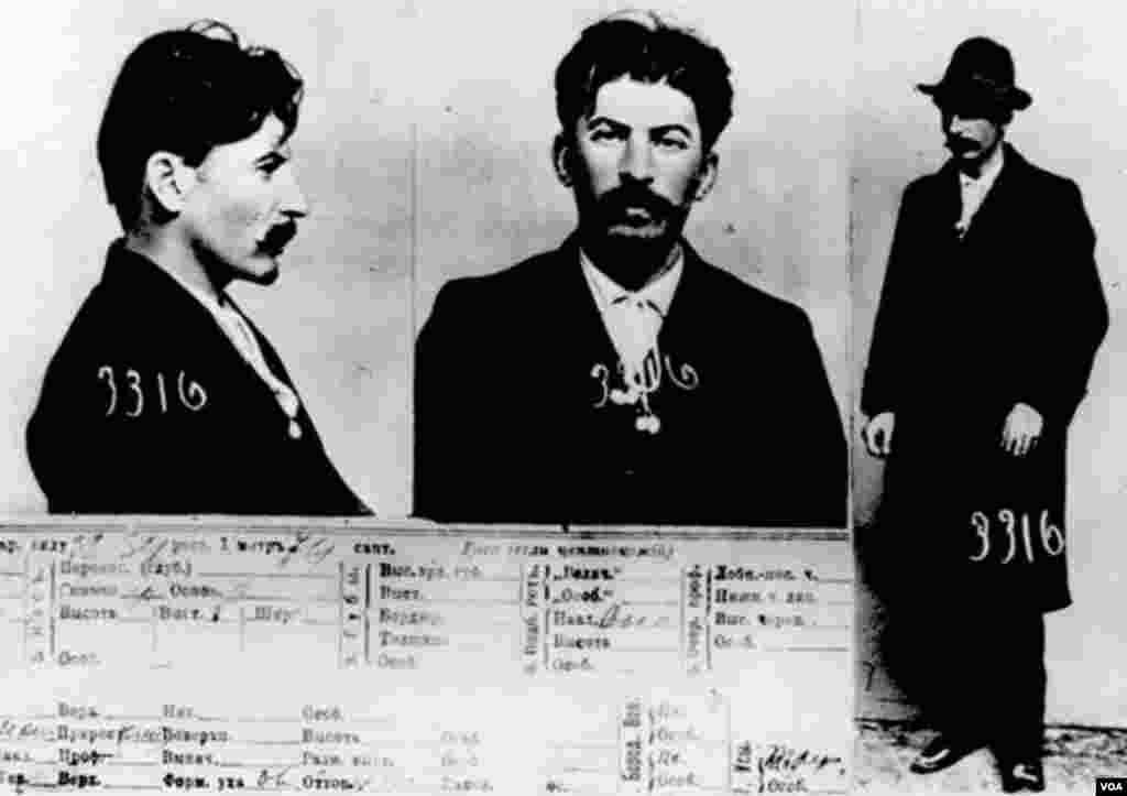 Çarın casus xidməti Oxrananın arxivindən tapılmış İosif Stalinin məhbus fotosu. 1911.