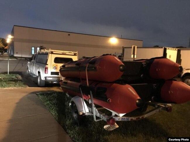 Equipo de búsqueda y rescate VA-TF1 basado en Fairfax, Virginia, partió a Florida para ayudar a los condados que se prevé serán afectados por el huracán Michael. Martes 9 de octubre de 2018.