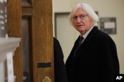 Lawyer for actor and comedian Bill Cosby, Tom Mesereau, arrives for Cosby's sexual assault retrial at the Montgomery County Courthouse in Norristown, Pa., April 10, 2018.