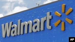 រូបភាពឯកសារ៖ ស្លាកសញ្ញា Walmart នៅក្នុងទីក្រុង Hialeah Gardens រដ្ឋ Florida កាលពីថ្ងៃទី០១ មិថុនា ឆ្នាំ ២០១៧។