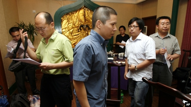 Xu Zhiyong, seen here on July 17, 2009, was indicted by Beijing prosecutors on Dec. 13, 2013, and will likely stand trial soon, his lawyer Zhang Qingfang said.