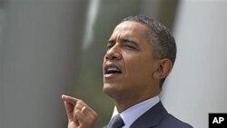 奥巴马总统9月19号在白宫玫瑰园发表讲话