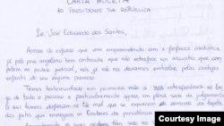 Carta Aberta dos activistas ao PR José Eduardo dos Santos, Luanda. Angola