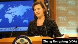 미국 국무부의 빅토리아 눌런드 대변인. (자료사진)