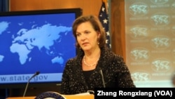 美国国务院发言人卢岚(美国之音张蓉湘拍摄)