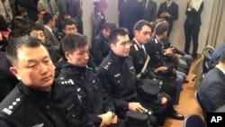 中國警察出席意大利內政部總部的記者會