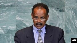 FILE - President Isaias Afwerki of Eritrea addresses the 66th session of the U.N. General Assembly at U.N. headquarters, Sept. 23, 2011. Afwerki is criticizing Israel's plan to deport tens of thousands of African migrants, saying they deserve far more than the $3,500 offered to leave.