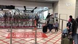 香港高铁站封关在即 港人蜂拥从中国大陆返回