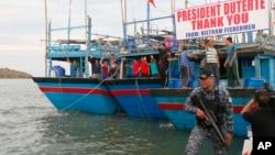 Ngư dân Việt Nam được Philippines thả cuối năm 2016.